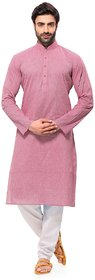 RG Designers Handloom Pink Kurta pyjama set
