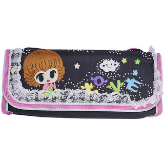 Saamarth Impex Trendy Lace Cartoon Black Pen Pencil Pouch Travel Kit SI-892