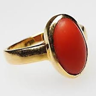 6.25 RATTI RED CORAL STONE RING BUY ONLINE
