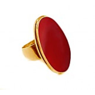 5.25 RATTI RED CORAL STONE RING BUY ONLINE (Free Size)