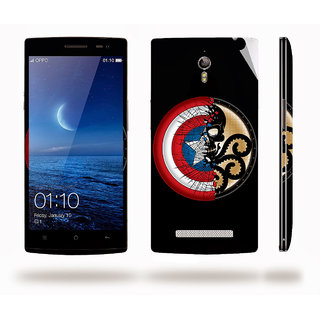 Snooky Digital Print Mobile Skin Sticker For Oppo Find 7