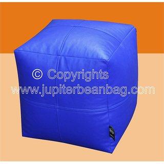 JUPITER Bean Bag Cube -Dark Blue- Soft Leather Feel - Cover Only