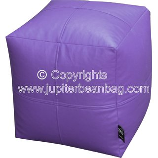 JUPITER Bean Bag Cube -Purple - Soft Leather Feel - Cover Only