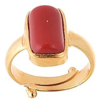 5.25 RATTI RED CORAL STONE RING BUY ONLINE