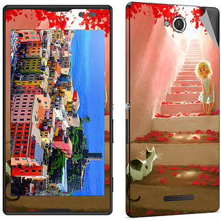 Snooky Digital Print Mobile Skin Sticker For Sony Xperia C