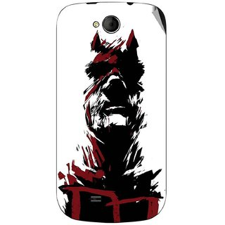 Snooky Digital Print Mobile Skin Sticker For Micromax Canvas A93