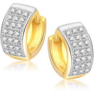 Meenaz ali Earrings For Girls  Women Gold Plated In American Diamond -B124