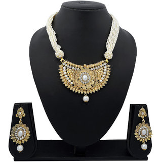 Meenaz Traditional Necklace Sets Jewellery Sets Gold Plated With Earrings For Women,Girls NL120
