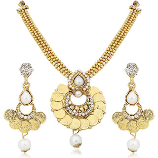 Meenaz Traditional Necklace Sets Jewellery Sets Gold Plated With Earrings For Women,Girls NL121