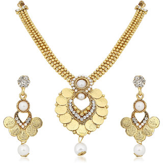 Meenaz Traditional Necklace Sets Jewellery Sets Gold Plated With Earrings For Women,Girls NL123
