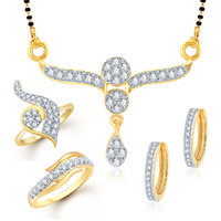 Meenaz Mangalsutra Jewellery Set bo Gold Plated For Women  - Com10516