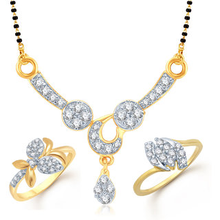 Meenaz Mangalsutra Jewellery Set bo Gold Plated For Women  - Com10314