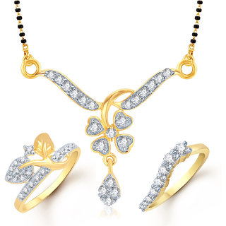 Meenaz Mangalsutra Jewellery Set bo Gold Plated For Women  - Com10418