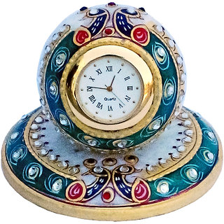 chitrahandicraft Mrable Table Watch,clock