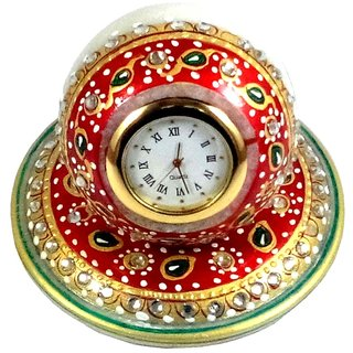 Chitrahandicraft Mrable Table Watch clock
