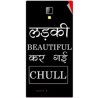 Snooky Digital Print Mobile Skin Sticker For Micromax Canvas Xpress A99
