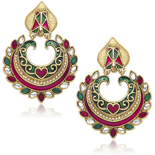 f4e763f1ab Buy Meenaz Traditional Earrings Fancy Party Wear Kundan Moti Daimond  Earrings For Women - T363 Online - Get 71% Off