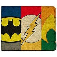 ShopMantra Multicoloured Canvas Superheroes Logos Wallet