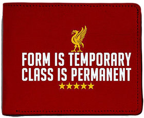 ShopMantra Red Canvas Liverpool FC Class Is Permanent Wallet