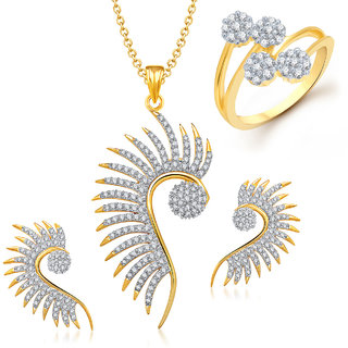 Meenaz Mangalsutra Jewellery Set bo Gold Plated For Women  - Com12918