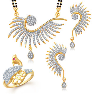 Meenaz Mangalsutra Jewellery Set bo Gold Plated For Women  - Com1308