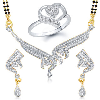 Meenaz Mangalsutra Jewellery Set bo Gold Plated For Women  - Com13312
