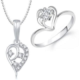 Meenaz Pendant Set bo Gold Plated CZ With American Diamond For Girls  Women  - Com18312