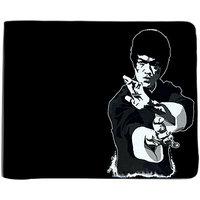 ShopMantra Black and Grey Canvas Bruce Lee Wallet