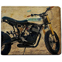 ShopMantra Brown and Black Canvas Deus Bike Wallet