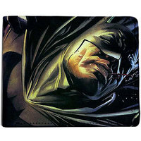 ShopMantra Yellow and Blue Canvas Batman Superman Fight Wallet