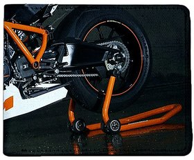 ShopMantra Grey Canvas KTM Stylish Bike Wallet