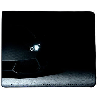 ShopMantra Black Canvas Stylish Black Car Wallet