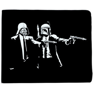 ShopMantra Black and White Canvas Pulp Fiction Star Wars Wallet
