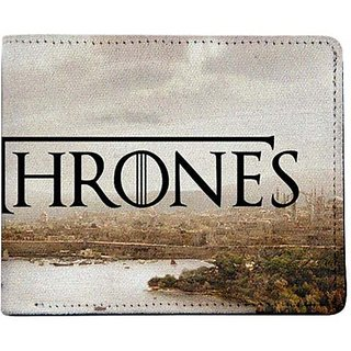 ShopMantra Grey and Brown Canvas Game of Thrones Kings Landing Wallet