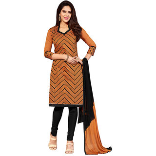 Biyu chanderi Jackard  printed unstiched dress material