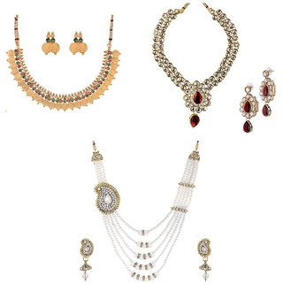 Awww Exclusive 3 Piece Necklace Set Combo for Women