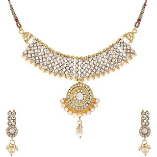 Awww Designer Antique Necklace Set With Earring for Women