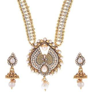 Awww Modern Style Long Jewellery Set / Necklace Set with Earrings for Women / Girls
