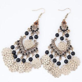 Shining Diva Non Plated Black Dangle Earrings For Women-CFJ6957er