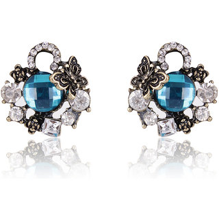 Shining Diva Non Plated Blue Studs For Women-CFJ6958er