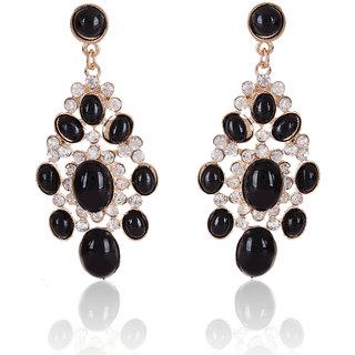 Shining Diva Non Plated Black Dangle Earrings For Women-CFJ6961er