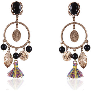 Shining Diva Non Plated Multi Dangle Earrings For Women-CFJ6927er