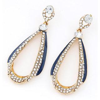Shining Diva Non Plated Blue Dangle Earrings For Women-CFJ6929er
