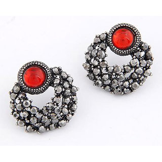 Shining Diva Non Plated Red Studs For Women-CFJ6948er