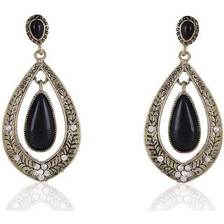 Shining Diva Non Plated Black Dangle Earrings For Women-CFJ6949er