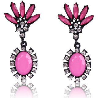 Shining Diva Non Plated Pink Dangle Earrings For Women-CFJ6951er