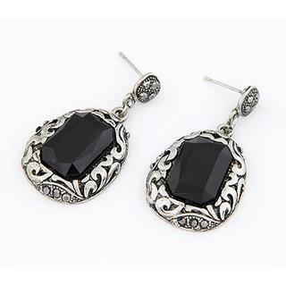 Shining Diva Non Plated Black Drops For Women-CFJ6955er