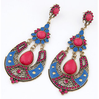 Shining Diva Non Plated Multi Dangle Earrings For Women-CFJ6974er