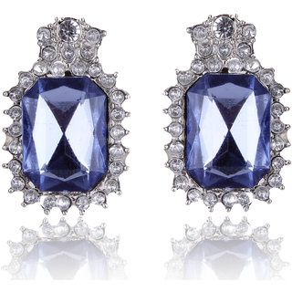 Shining Diva Non Plated Blue Studs For Women-CFJ6981er