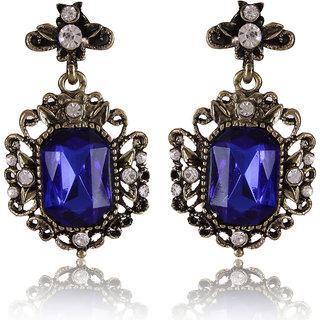 Shining Diva Non Plated Blue Dangle Earrings For Women-CFJ6978er